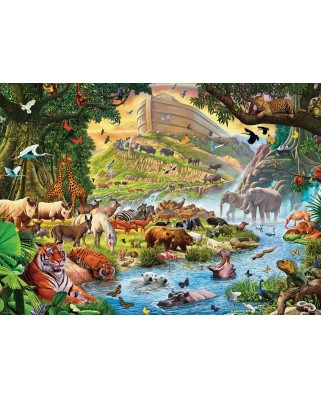 Puzzle Eurographics - Steve Crisp: Noah's Ark Before the Rain, 300 piese XXL (6500-0980)