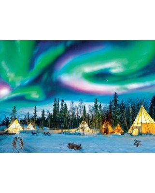 Puzzle Eurographics - Northern Lights - Yellowknife, 1000 piese (6000-5435)