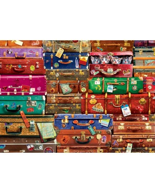 Puzzle Eurographics - Travel Suitcases, 1000 piese (6000-5468)