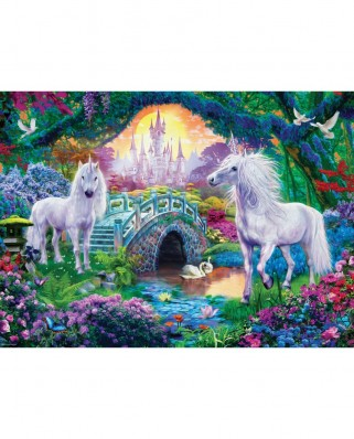 Puzzle Eurographics - Unicorn Fairy Land, 500 piese XXL (6500-5363)