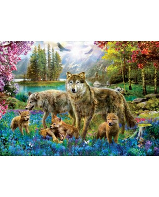 Puzzle Eurographics - Wolf Lake Fantasy, 500 piese XXL (6500-5360)