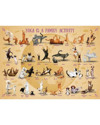 Puzzle Eurographics - Yoga is A Family Activity, 500 piese XXL (6500-5354)