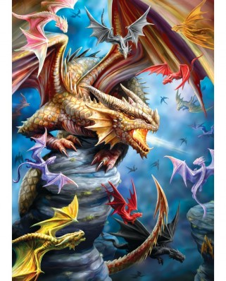 Puzzle Eurographics - Anne Stockes: Dragon Clan, 1000 piese (6000-5475)