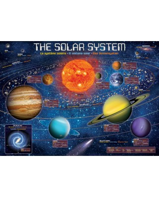 Puzzle Eurographics - The Solar System Illustrated, 500 piese XXL (6500-5369)