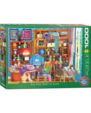 Puzzle Eurographics - All you Knit is Love, 1000 piese (6000-5405)