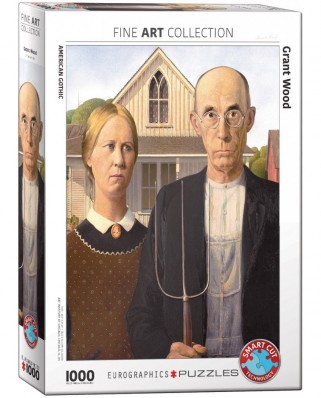 Puzzle Eurographics - Wood Grant: American Gothic, 1000 piese (6000-5479)