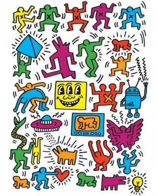 Puzzle Eurographics - Keith Haring: Collage by Keith Haring, 1.000 piese (6000-5513)