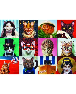 Puzzle Eurographics - Lucia Heffernan: Funny Cats, 1.000 piese (6000-5522)