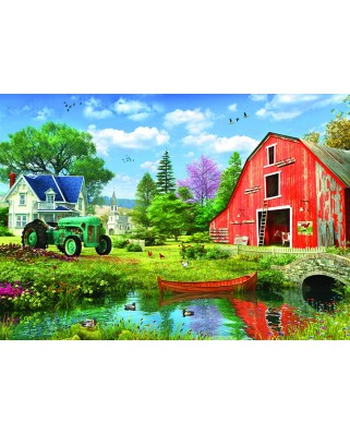 Puzzle Eurographics - Dominic Davison: The Red Barn by DominicDavison, 1.000 piese (6000-5526)