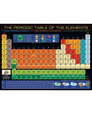 Puzzle Eurographics - The Periodic Table of the Elements, 1.000 piese (6000-1001)