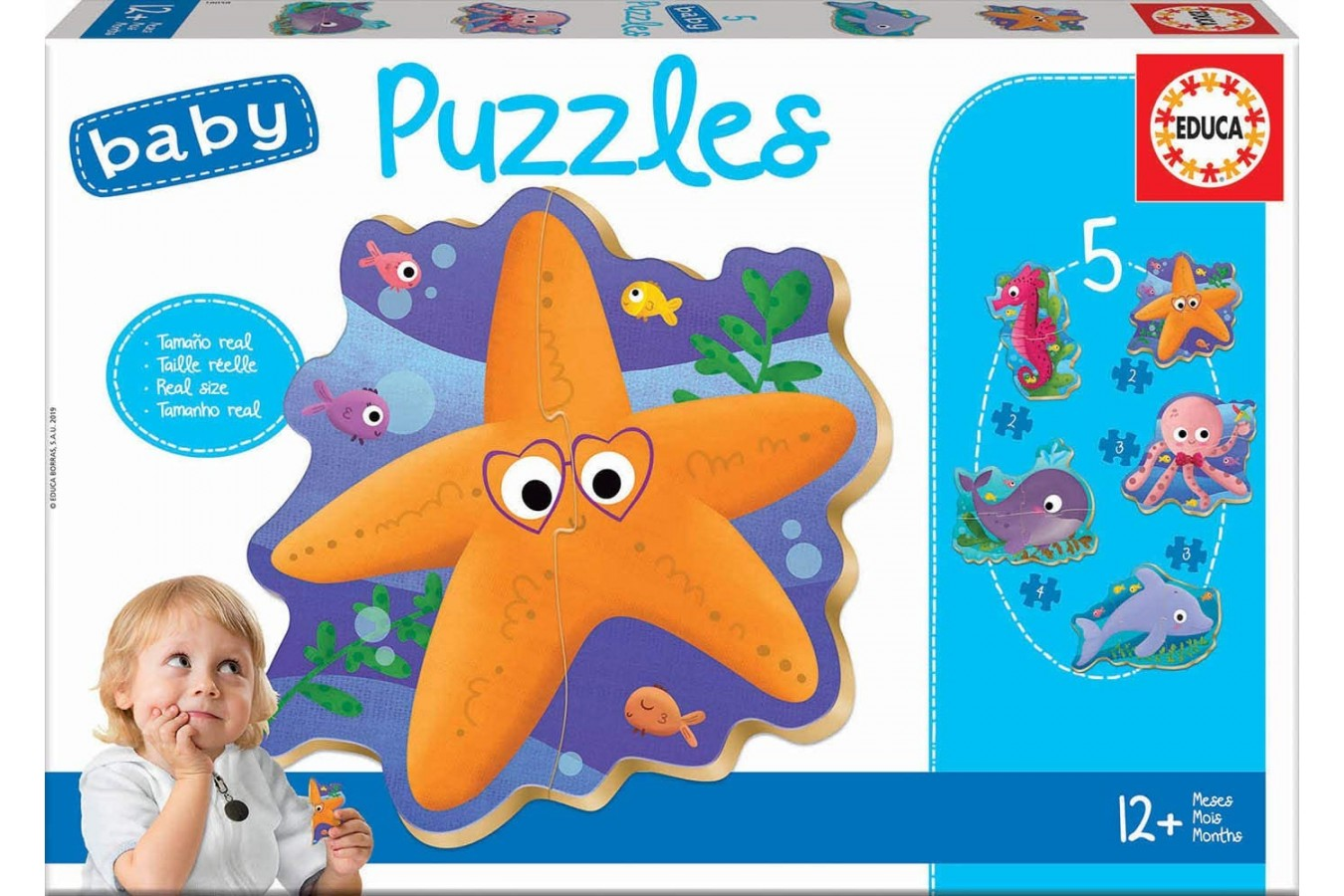 Puzzle Educa - 5 Baby Puzzles, 2/3/4 piese (18058)