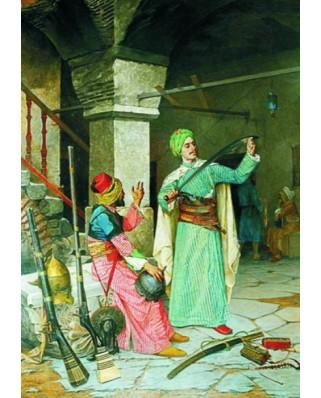 Puzzle Gold Puzzle - Osman Hamdi Bey: Weapon Merchant, 2.000 piese (Gold-Puzzle-60263)