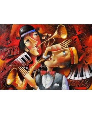 Puzzle Gold Puzzle - Jazz Duet, 1.000 piese (Gold-Puzzle-60546)
