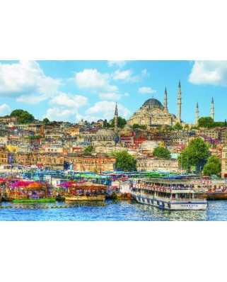 Puzzle Gold Puzzle - Istanbul, 1000 piese (Gold-Puzzle-60621)