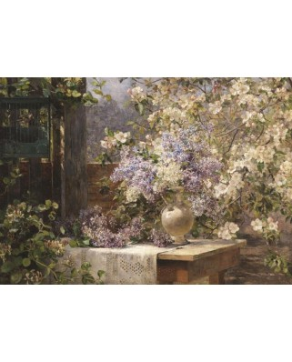 Puzzle Gold Puzzle - Marie Egner: In the Blossoming Bower, 1000 piese (Gold-Puzzle-60805)