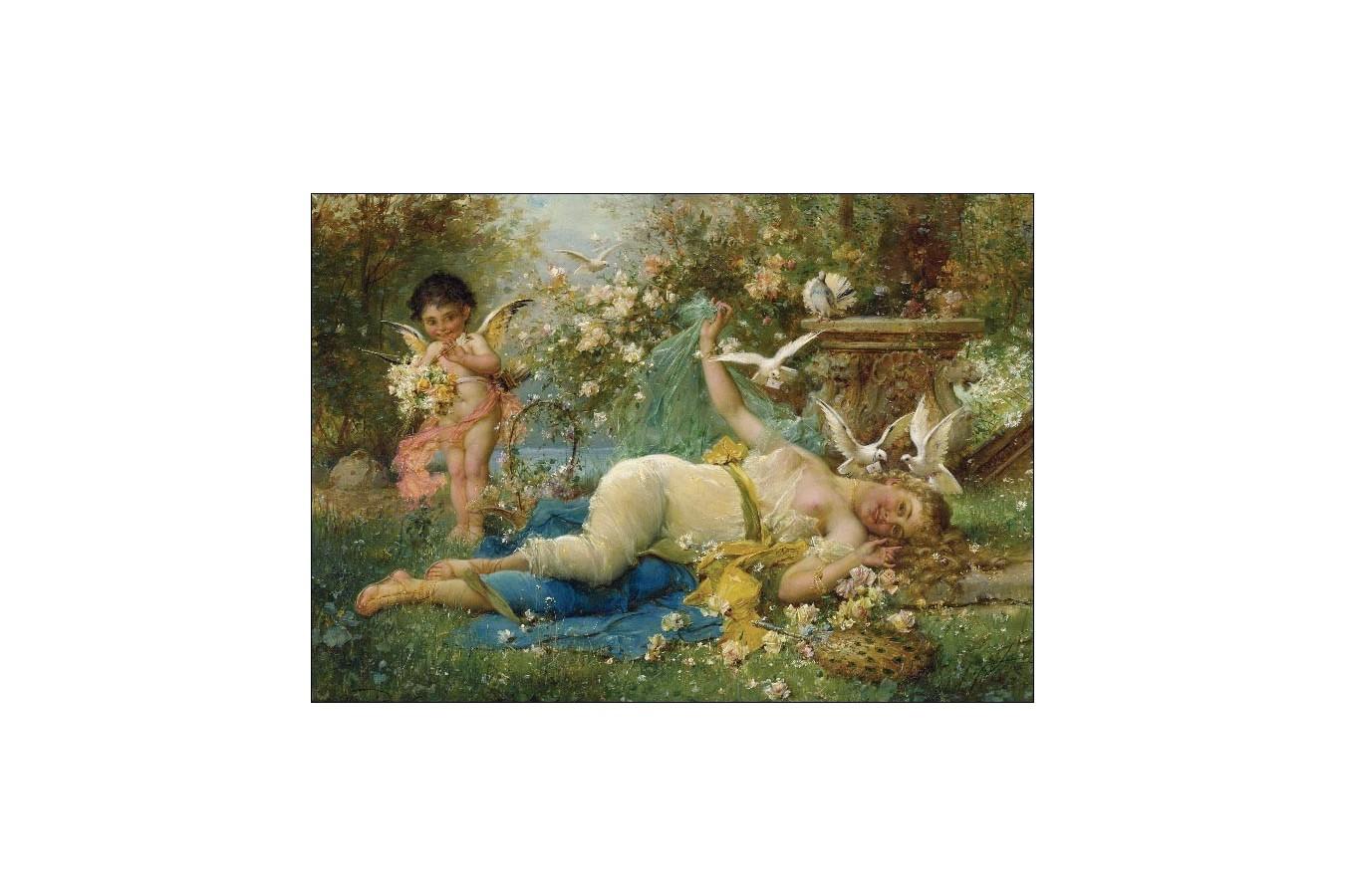 Puzzle Gold Puzzle - Joseph Bernard: Venus and Cupid, 2000 piese (Gold-Puzzle-60874)