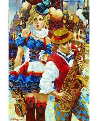 Puzzle Gold Puzzle - Cabaret, 2.000 piese (Gold-Puzzle-61031)