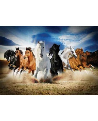 Puzzle Gold Puzzle - Full Speed Gallop, 2000 piese (Gold-Puzzle-61468)