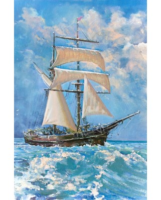 Puzzle Gold Puzzle - Sailboat in the Ocean, 500 piese (Gold-Puzzle-61475)