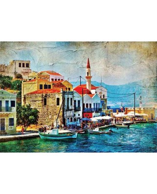 Puzzle Gold Puzzle - A Pretty Island in Mediterraenan Sea, 1000 piese (Gold-Puzzle-61529)