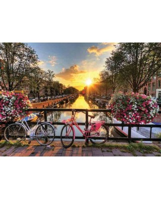Puzzle Gold Puzzle - Sunrise in Amsterdam, 1.000 piese (Gold-Puzzle-61543)
