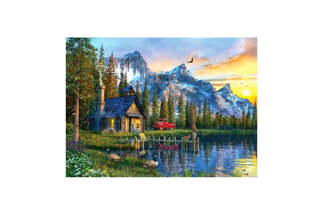 Puzzle Anatolian - Sunset Cabin, 1000 piese (1024)