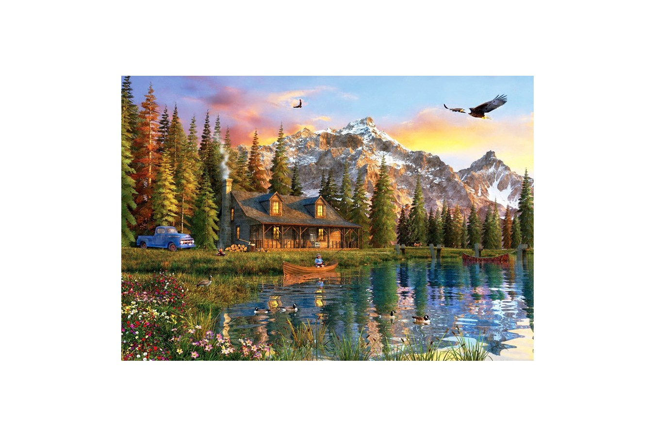 Puzzle Anatolian - Oldlook Cabin, 2000 piese (3933)
