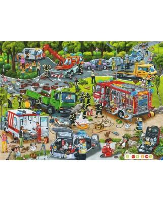 Puzzle Ravensburger - Tiptoi Strada In Constructie, 100 piese XXL (00554)