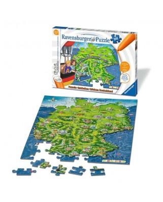 Puzzle Ravensburger - Tiptoi Harta, 100 piese XXL (00831)