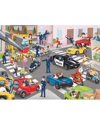 Puzzle Ravensburger - Patrula De Politie, 100 piese XXL (10401)
