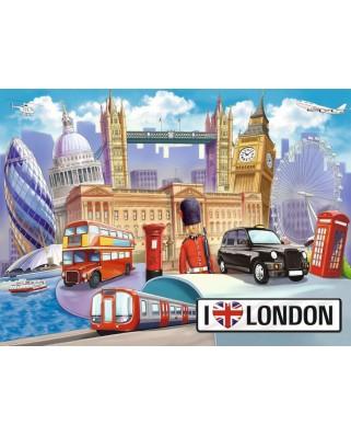 Puzzle Ravensburger - Londra, 100 piese XXL (10607)