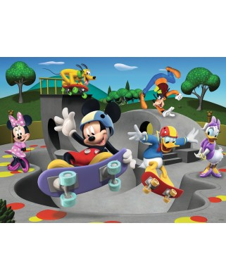 Puzzle Ravensburger - Mickey Cu Skateboard, 100 piese XXL (10923)
