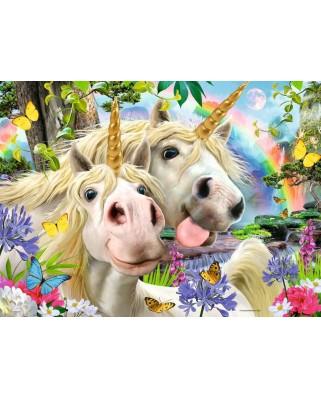 Puzzle Ravensburger - Selfie Cu Unicorni, 100 piese XXL (12898)