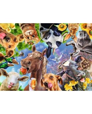 Puzzle Ravensburger - Portret Cu Animale, 200 piese XXL (12902)