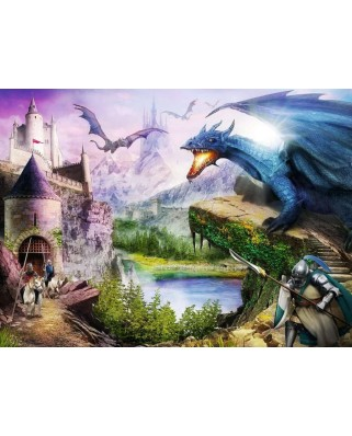 Puzzle Ravensburger - Castel Si Dragoni, 200 piese XXL (12911)