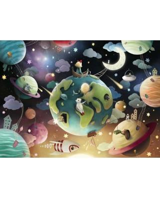Puzzle Ravensburger - Planete, 100 piese XXL (12971)