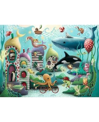 Puzzle Ravensburger - Animale Subacvatice, 100 piese XXL (12972)