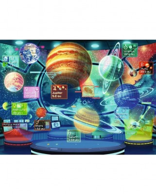 Puzzle Ravensburger - Holograma Planetelor, 300 piese XXL (12981)