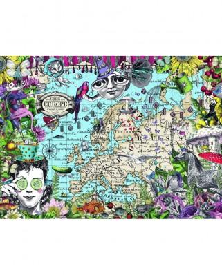 Puzzle Ravensburger - Harta Europei, 500 piese (16760)