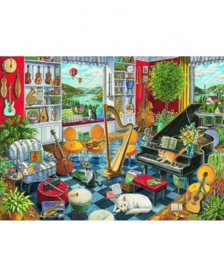 Puzzle Ravensburger - Sala De Muzica, 500 piese (16836)