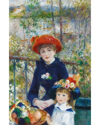 Puzzle Gold Puzzle - Auguste Renoir: Two Sisters on the Terrace, 1000 piese (Gold-Puzzle-60386)