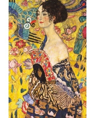Puzzle Gold Puzzle - Gustav Klimt: Lady with Fan, 1000 piese (Gold-Puzzle-60522)