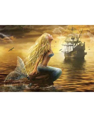 Puzzle Gold Puzzle - Mermaid, 1.000 piese (Gold-Puzzle-61406)