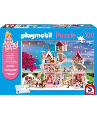Puzzle Schmidt - Castelul Printesei, 100 piese, include figurina Playmobil (56383)