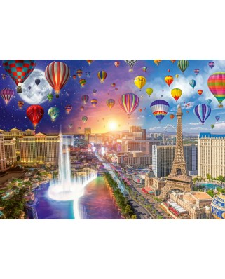 Puzzle Schmidt - Lars Stewart: Night And Day: Las Vegas, 1.000 piese (59907)