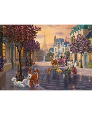 Puzzle Schmidt - Thomas Kinkade: Pisicile Aristocrate, 1.000 piese (59690)