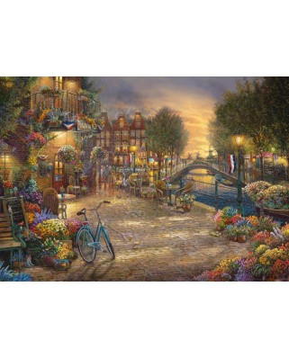 Puzzle Schmidt - Thomas Kinkade: Amsterdam, 1000 piese (59917)