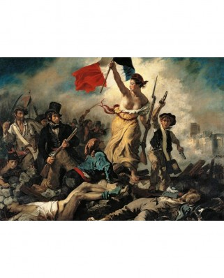 Puzzle Clementoni - Eugene Delacroix: Liberty Leading The People, 1.000 piese (39549)