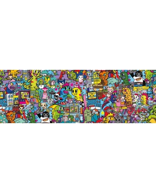 Puzzle panoramic Clementoni - Tokidoki, 1000 piese (39568)