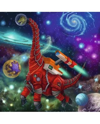 Puzzle Ravensburger - Dinozauri In Spatiu, 3x49 piese (05127)